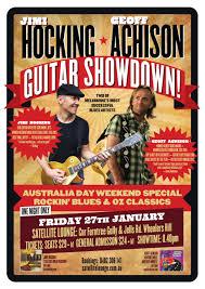 Radio One Jimi Jimi Hocking U0026 Geoff Achison Guitar Showdown Satellite Lounge