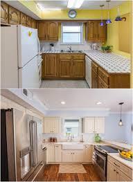 peindre des armoires de cuisine en bois design interieur relooking cuisine bois facade armoires blanche