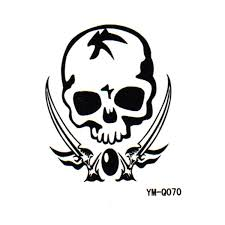 tattoo decal paper buy danger mark skeleton totem removable temporary transfer tattoos body