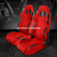 Nissan 350z Red - red cloth black reclinable racing seats bracket for 03 08 nissan