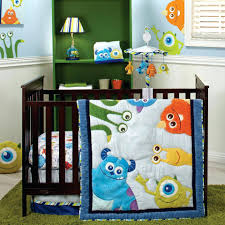 Construction Crib Bedding Set Construction Crib Bedding Set Baby Monsters Inc 4 Crib