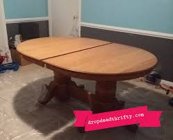 Painted Dining Table by Chalk Paint U0026 The Dining Room Table Drop Dead Thrifty