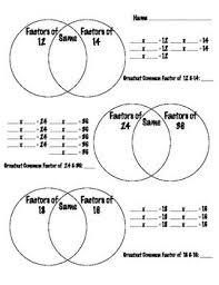 prime numbers and factors worksheet gcf of two numbers descriptive for aidyn numbers