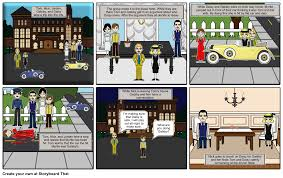 the great gatsby chapter 7 storyboard by viazanth