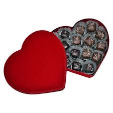 heart chocolate box chocolate salted caramel heart gift box dilettante