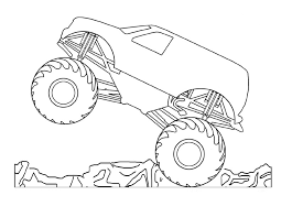coloring pages monster truck sketch monster truck sketchup