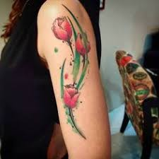 tulip tattoos flower tattoos tulips female design