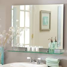 bathroom wall mirrors frameless frameless wall mirror design and ideas vwho