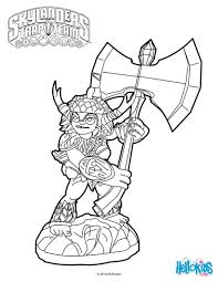 winsome design skylander color pages free printable skylanders