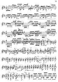 classical guitar sheet