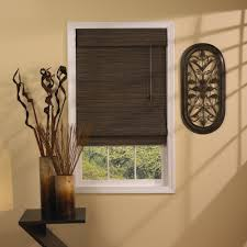 Bamboo Roller Shades Bamboo Roman Shades Lined Painted Silver Grey Lined With An