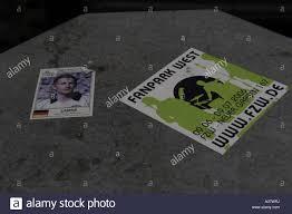 West German Flag Sticker Promotion Fanpark West Dortmund Fanfest Wm World Cup 2006