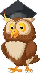 graduation owl vector illustration of owl wearing graduation cap stock
