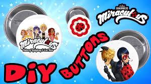 miraculous ladybug and cat noir memory buttons diy crafts
