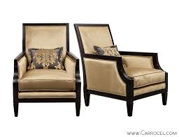 Livingroom Chairs Pair Of Black Lacquered Upholstered X Back Livingroom Chairs