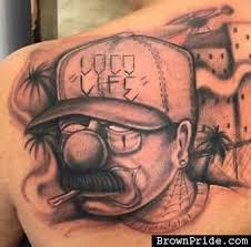 loco life chicano tattoos payaso body art brownpride com photo