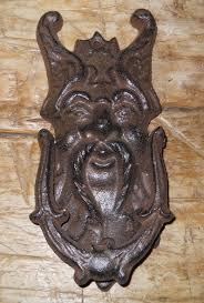 Bat Door Knocker by Cast Iron Antique Style Griffin Gargoyle Door Knocker Brown