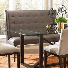Dining Benches With Backs Upholstered Bemodern Dining Items Upholstered Dining Settee With Tufted Wing