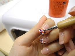 simple nail art design by cnd shellac soak off gel system