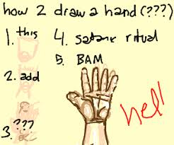 how to draw hands step 1
