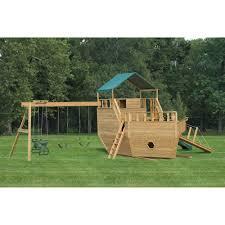 Pergola Swing Set Plans by Amish Made 23x12 Ft Bulldozer And Backhoe Playground Set