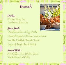 Sample Buffet Menus by Sample Brunch Menu Wedding Brunch Ideas Pinterest Brunch Menu