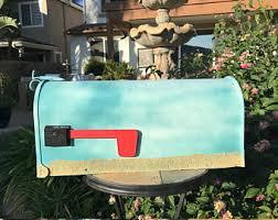 Nautical Themed Mailboxes - beach mailbox etsy