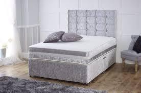 Velvet Sleigh Bed Crushed Velvet Divan Bed Set Crushed Velvet Sleigh Bed