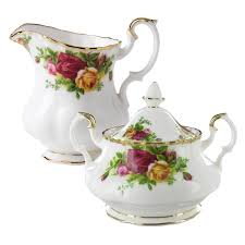 roses china royal albert china country roses sugar bowl and creamer set