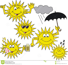 margarita emoticon smiling sun symbol cartoon stock illustration image of cloud