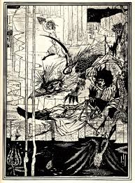 how king arthur saw the questing beast aubrey beardsley