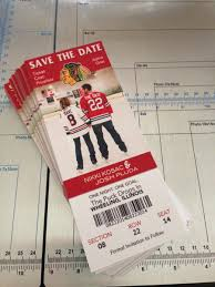 sports ticket invitation wedding and event sports team save the date ticket custom design