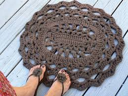 Easy Crochet Oval Rug Pattern 434 Best Crocheted Rugs U0026 Pillows Images On Pinterest Crochet