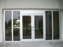 Doors Design Exterior Design Inspirative Sliding Storefront Door With Simple