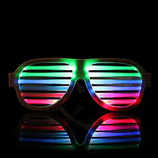 party sunglasses with lights led light up glasses music sound activated reactive intelligent for