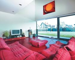 Red Sectional Sofas Living Room Astounding Modern Red Living Room With Red Sectional