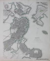 Boston Map 1776 by Antique Maps And Charts U2013 Original Vintage Rare Historical