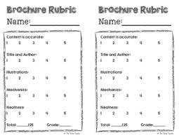 brochure rubric template brochure template by the techie teachers pay teachers