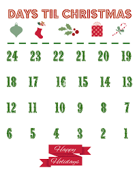 printable christmas countdown calendar the country chic cottage