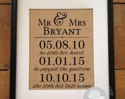 wedding gift questions date questions etsy
