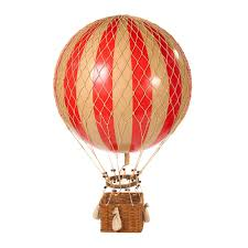 home decor objects authentic models jules verne balloon red houseology