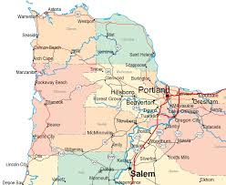 Northern Oregon Coast Map by Gallery Of Oregon Maps