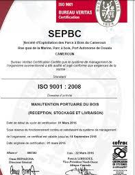 bureau veritas cameroun cameroun port de douala certifiée iso 9001 la sepbc revendique