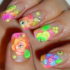 summer 3d flowers nail art youtube