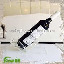 clear acrylic single wine rack holder vintage wine bottle beverage