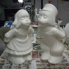 unpainted ready to paint boy outdoor yard ornament