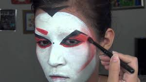 geisha kabuki makeup inspired youtube