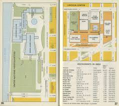 Lincoln Center New York Map by Norman B Leventhal Map Center