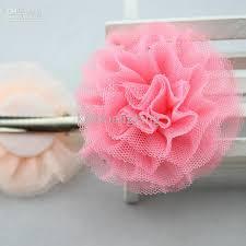 tulle flowers 2 8 tulle flowers hair clip tutu mesh flowers barrettes for girl