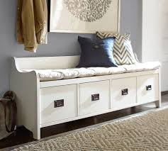 wade entryway bench small almond white pottery barn